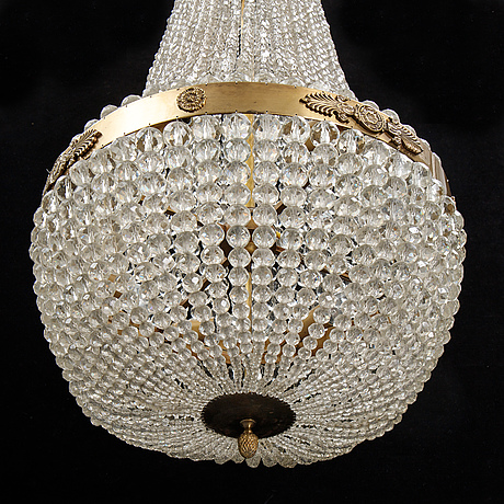 An empire style chandelier, second half of the 20th century.