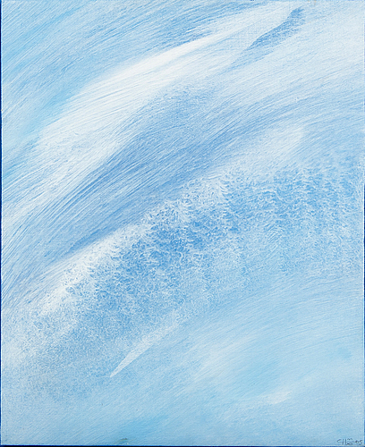 """Curt hilfon, oil on canvas, signed, dated 2005, """"the wind""""."""