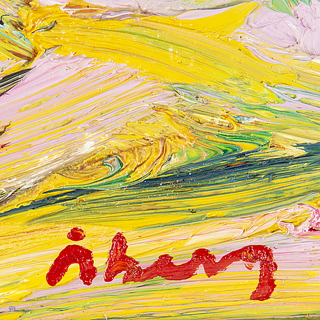 Bengt åberg, oil on canvas, signed.