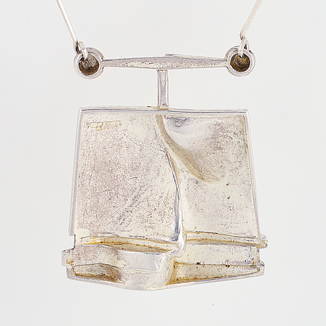 "Björn weckström, sterling silver necklace ""o2x"", lapponia."