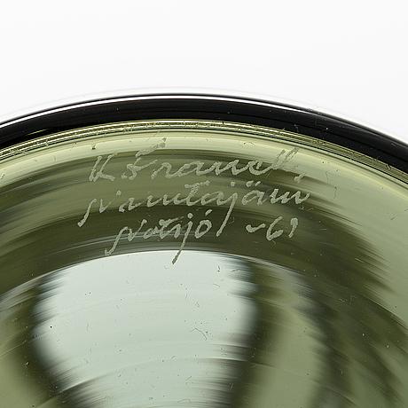Kaj franck, a decanter signed k. franck, nuutajärvi notsjö -61.
