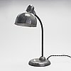 Christian dell, a 1930s table lamp '6551' from gebr. kaiser & co, germany.