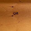 Carl malmsten, a 'stora salen' birch sofa table, second half of the 20th century.