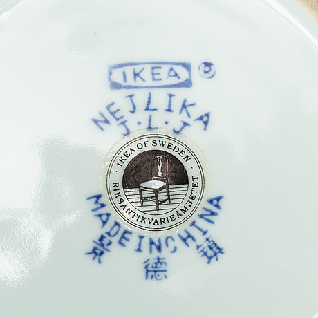 44 parts of the procelain dinner and tea service 'nejlika' from ikea.