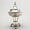 A swedish silver sugerbowl mark of gg rehnberg stockholm 1818 weight 620 gr.