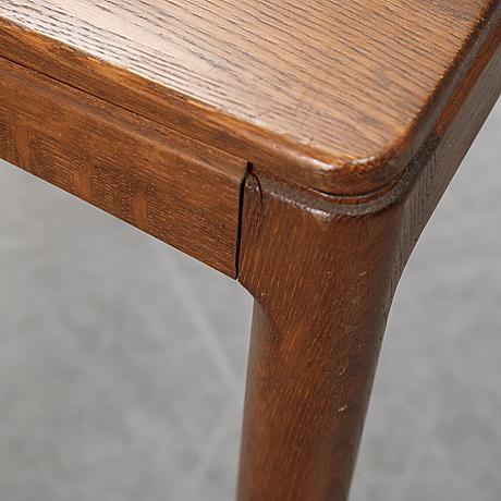 Engström & myrstrand, a pair of stained oak side tables, 'micado', tingströms, bra bohag.