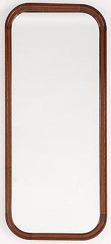 A Swedish Modern mahogany mirror, 1940's.