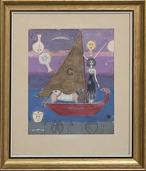 Max Walter Svanberg, gouache, signed and dated -52.