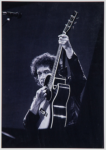 Joakim strömholm, photograph portrait of bob dylan, signed numbered 4/20 on verso.