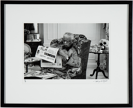 Terry o'neill, photograph signed and numbered 3/50.