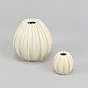 Two earthenware vases by vicke lindstrand, uppsala ekeby.