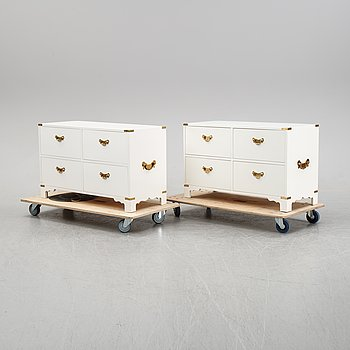 A pair of dressers by Ove Feuk for Nordsika Komaniet, end of the 20th Century.