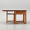A swedish pine gate leg table 18/19th century.