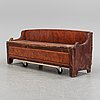 A swedish painted wooden sofa, 19th century.