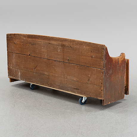 A painted swedish wooden sofa, dated 1845.