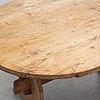 A swedish pine trestle table 18/19th century.