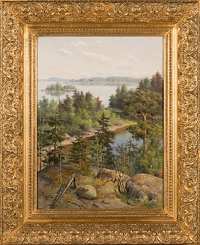 Johan elis kortman, oil on canvas, signed and dated 1894.