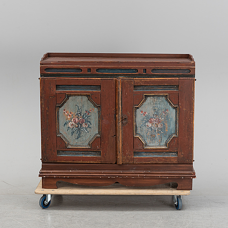 A swedish painted cabinet, second half of the 18th century.