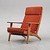 A 'ge-290' oak armchair by hans j wegner for getama.
