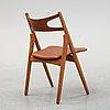 "A ""ch 29/savbukkestolen"" chair by hans j wegner for carl hansen & søn, odense, denmark."