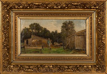 Unknown artist, 19th century, oil on canvas, unclearly signed.