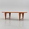 A 1960's oak coffee table by svante skogh, seffle.