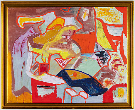 Imre antonyi, oil on canvas, signed.