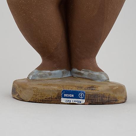 Lisa larson, a stoneware figurine, 'dora' from the series 'abc-flickorna', for gustavsberg.