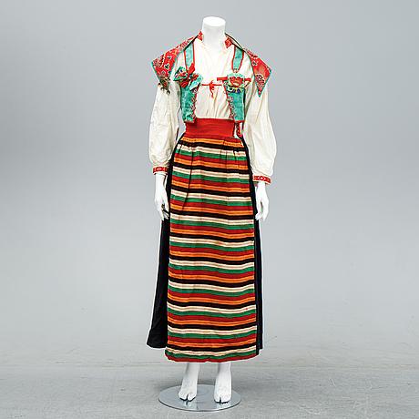 A traditional folk dress from the region of rättvik sweden.