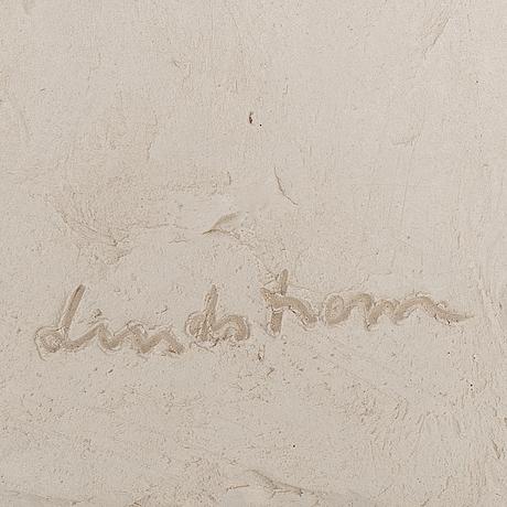 Bengt lindström, a ceramic relief, signed lindström and numbered bl7b 12/12 on verso.