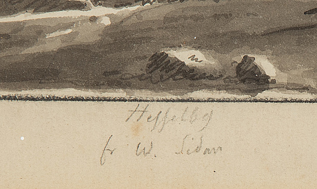 Ulrik thersner, tuschlavering, daterad 1820.