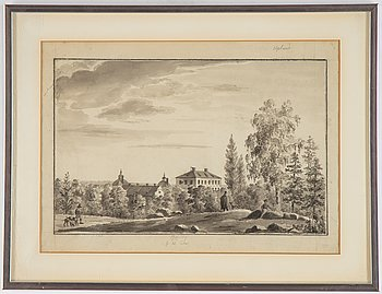 Ulrik Thersner, ink drawing, dated 1820.