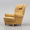 An easy chair by carl malmsten for oh sjögren, second half of the 20th century.