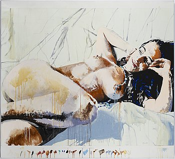 Robert Stanley, oil on canvas signed and dated 1993.