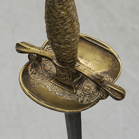 A composite officer's sword, 18th - and 19th century.