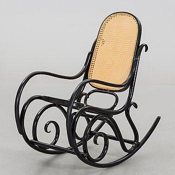 A Thonet style rocking chair, Poland.