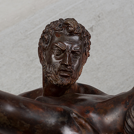 Giovanni bologna, after. sculpture. brown/red patinated bronze. height 120 cm.