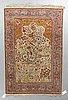 A rug, old silk turkish, ca 180 x 117 cm.