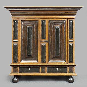 A Baroque oak cabinet, 18th Century.