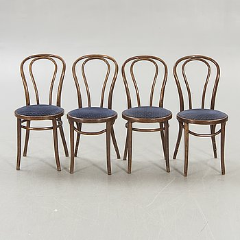 A set of four chairs, later part of the 20th century.