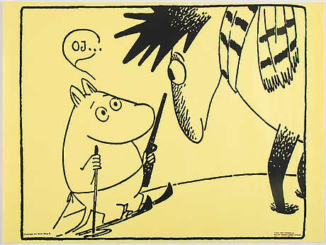Tove jansson, affischer, 6 st, bull's presstjänst, art work shop, 1960-tal.