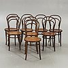 Chairs, 8 pcs, bentwood, first half of the 20th century.