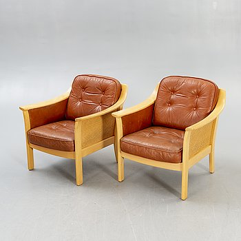 Bröderna Andersson, a pair of armchairs second half of the 20th century.