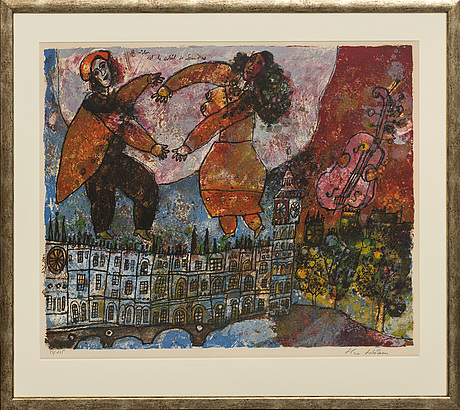 Theo tobiasse, lithograph in colours, signed and numbered 50/175.
