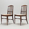 "Kerstin hörlin-holmquist, tuoleja, 8 kpl, ""charlotte"", asko 1970-luku."