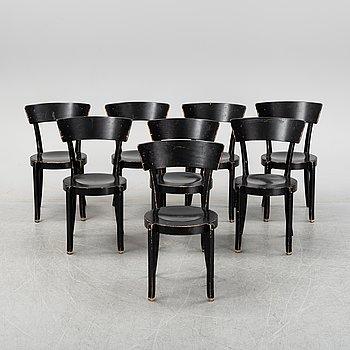 Eight ' Gästis' chairs by Åke Axelsson, Galleri Stolen, late 20th century.