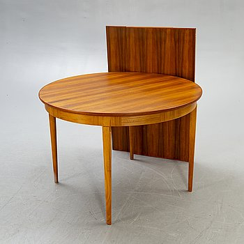 A Carl Malmsten teak and walnut dining table for Åfors, 1950/60s.