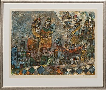 Theo Tobiasse, lithograph in colours, signed and numbered 30/150.