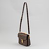 Louis vuitton, a mongram canvas 'pochette metis' handbag, 2013.
