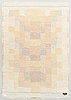 "Terttu tomero, rya, ""kantarelli"", modell för neovius. ca 155 x 106 cm."